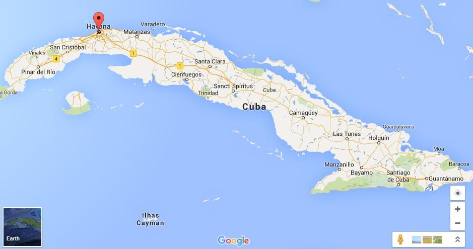 Mapa - Cuba
