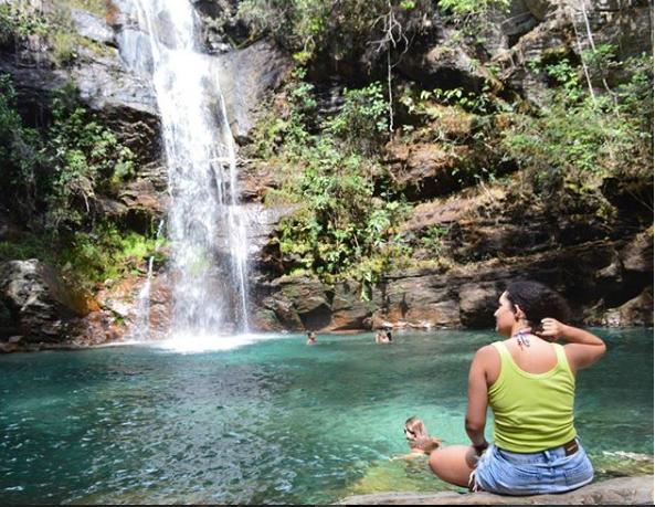 Cachoeira Santa Bárbara, Chapada dos Veadeiros