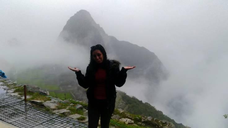 Machu Picchu com chuva